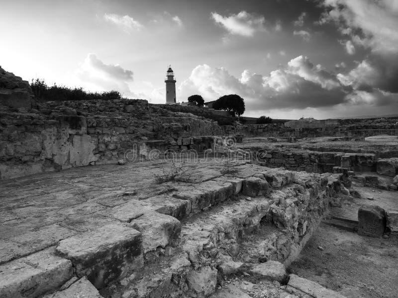 Старые руины Kato Pafos, Кипра стоковые изображения rf