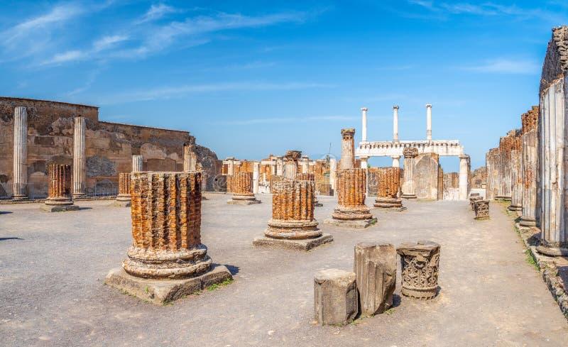 Старые руины Pompei стоковая фотография rf