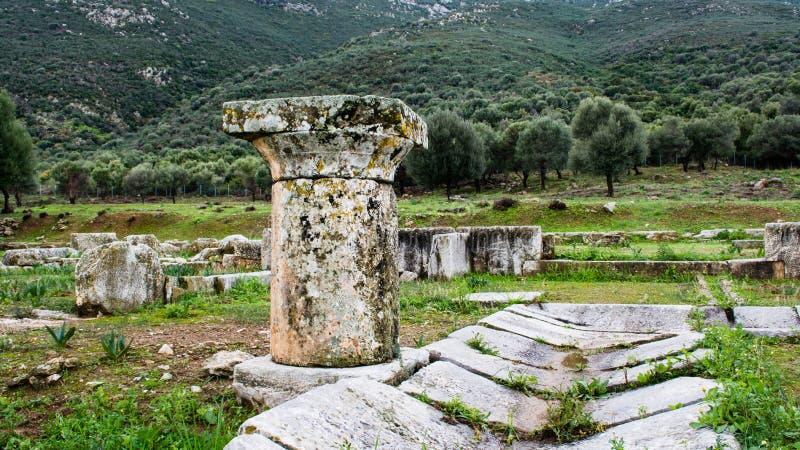 Старые руины Troizina, Греция стоковое фото rf