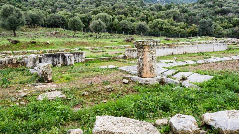 Старые руины Troizina, Греция стоковые изображения rf