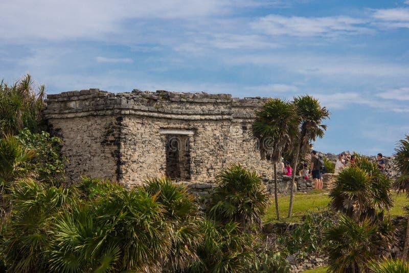 Старые руины Tulum стоковые изображения