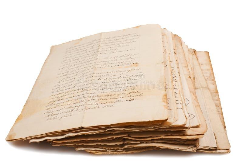 Старые рукописи стоковая фотография rf