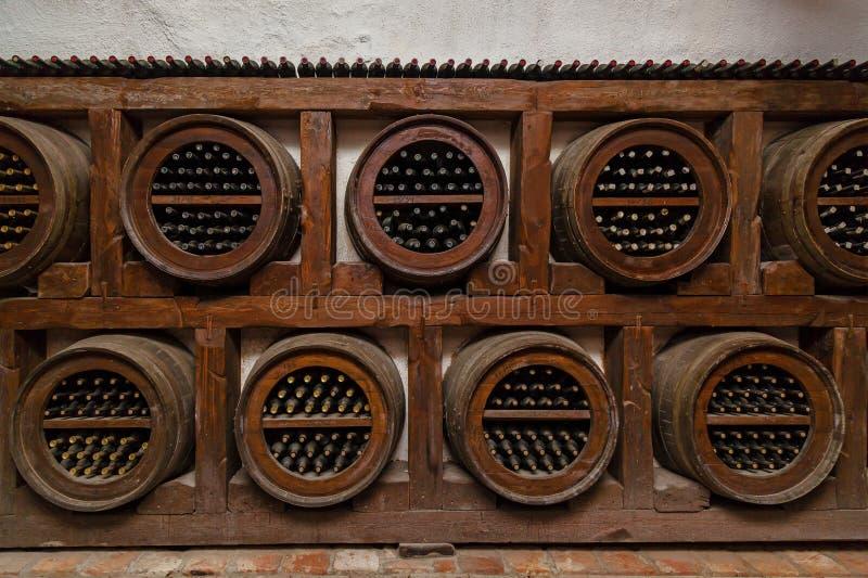 Старые своды вина в Georgia стоковая фотография