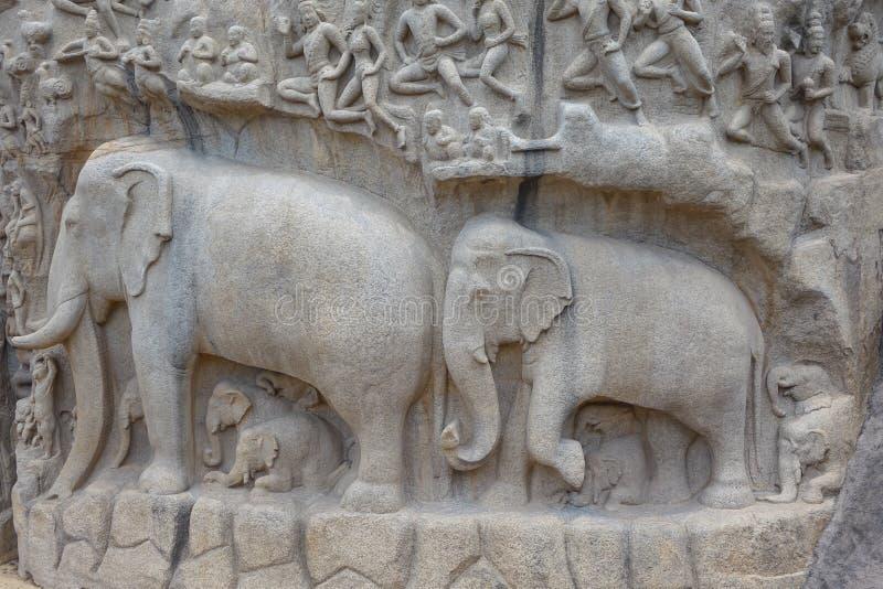 Старые скульптуры слона стоковое фото