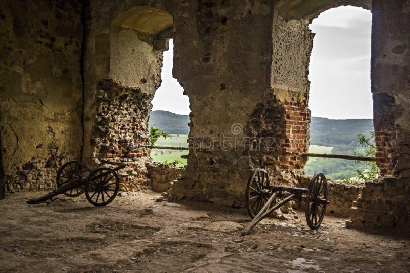 Старые средневековые карамболи стоковое фото rf