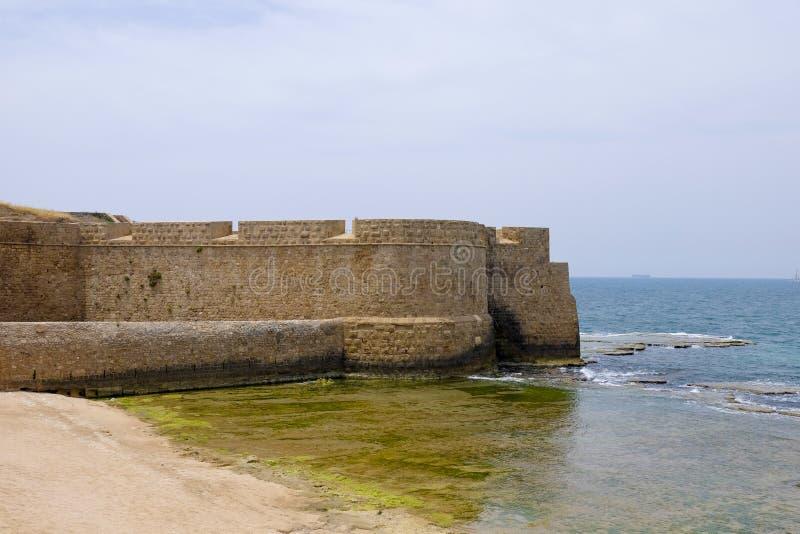 Старые стены акра, Израиль стоковые фотографии rf