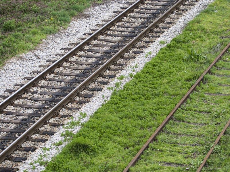 Старые следы железной дороги стоковое изображение rf