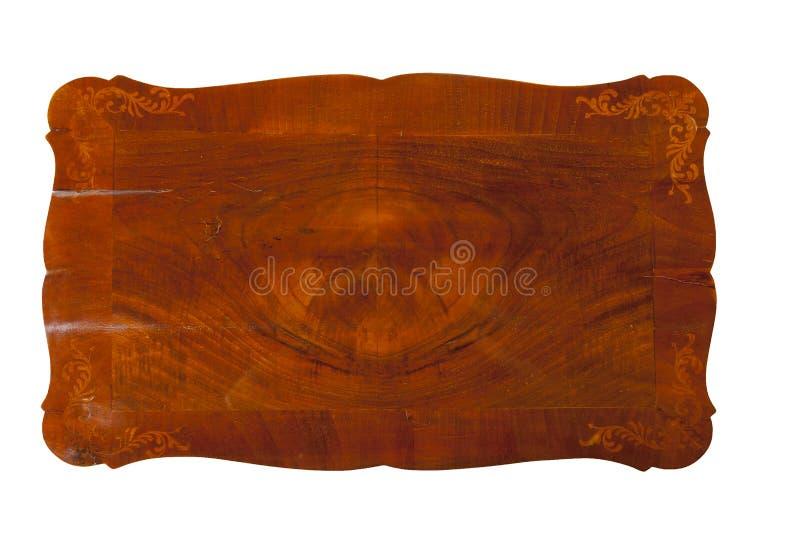 Старые текстура и формы деревянного стола стоковая фотография