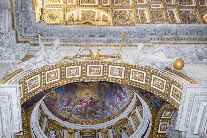 Старые фрески в Ватикане стоковое фото