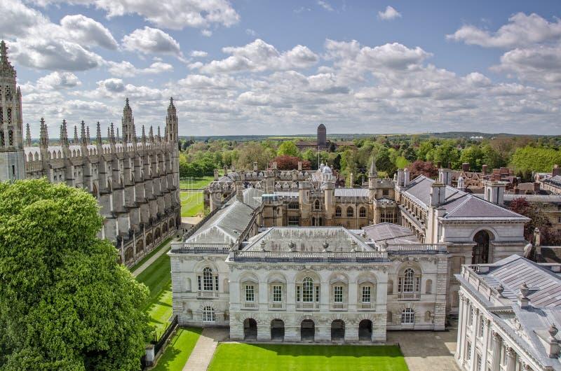 Старые школы Кембриджского университета стоковое фото