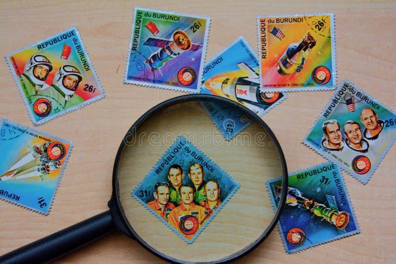 старые штемпеля почтоваи оплата стоковое изображение