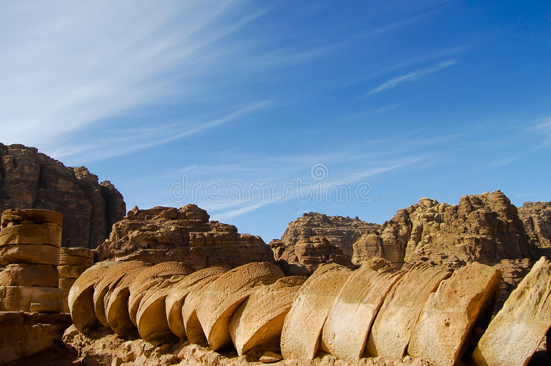 Старые штендеры - Petra - Джордан стоковое изображение
