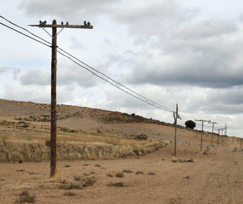 Старые электрические полюсы стоковое изображение rf