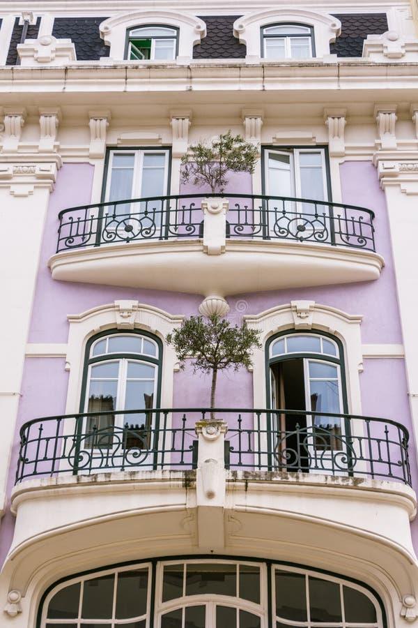 Старые façades в центре Libon Португалии стоковые фото