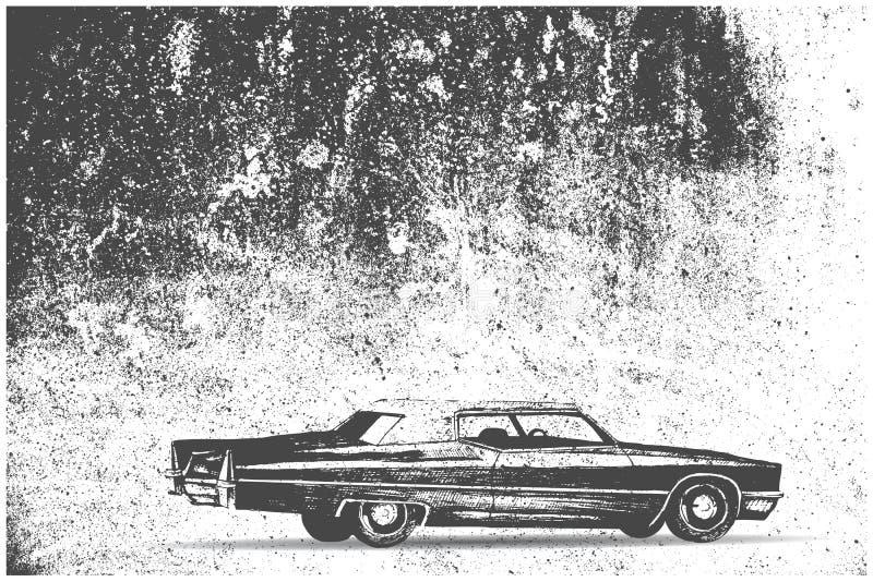 старый автомобиль на предпосылке grunge стоковые изображения rf