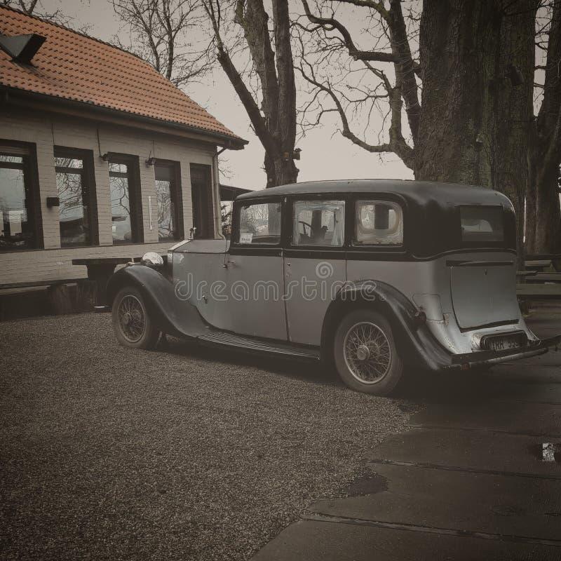 Старый автомобиль, старый стиль, Дюссельдорф, Германия стоковое фото