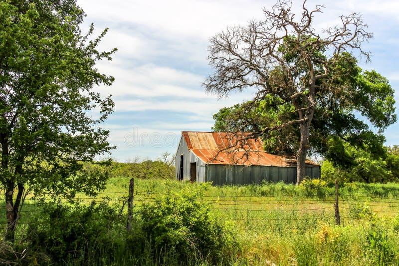 Старый амбар Техаса стоковая фотография rf
