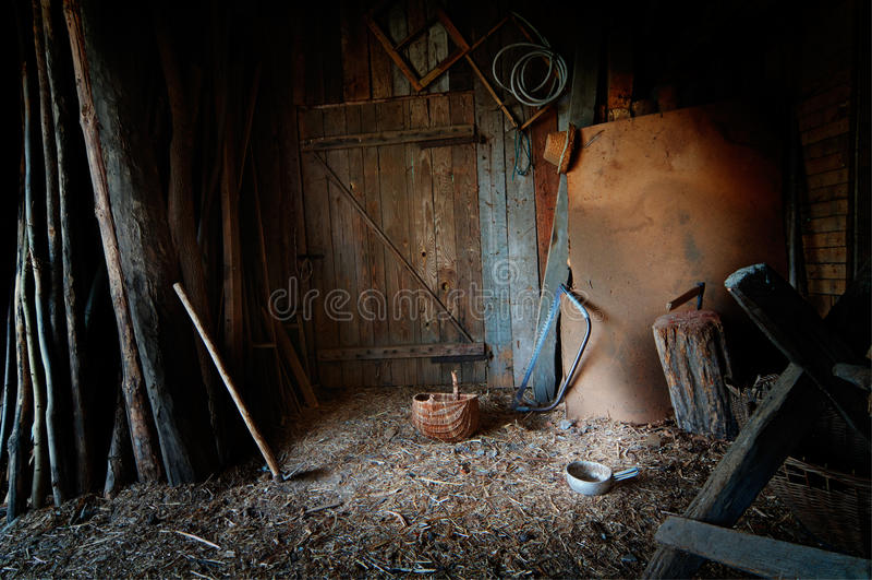 Старый амбар стоковое фото rf