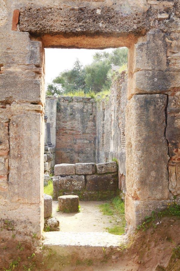Старый археологический музей в Олимпии стоковые фотографии rf
