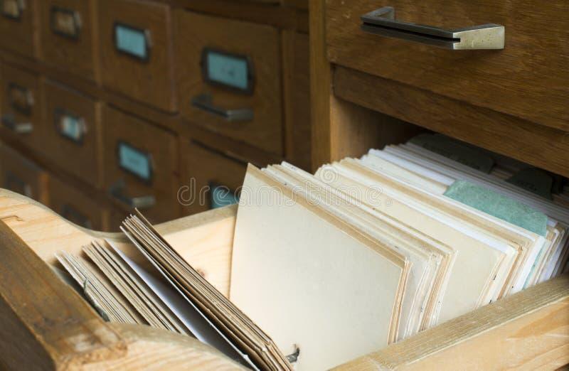 Старый архив с ящиками стоковые изображения