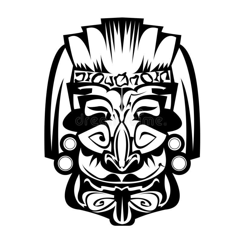 Старый африканец маски иллюстрация вектора