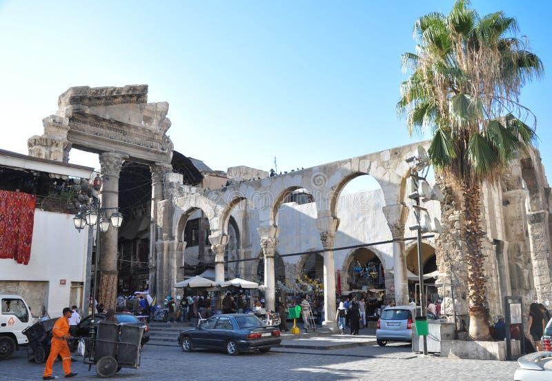 Старый базар в Дамаске перед войной стоковые фото