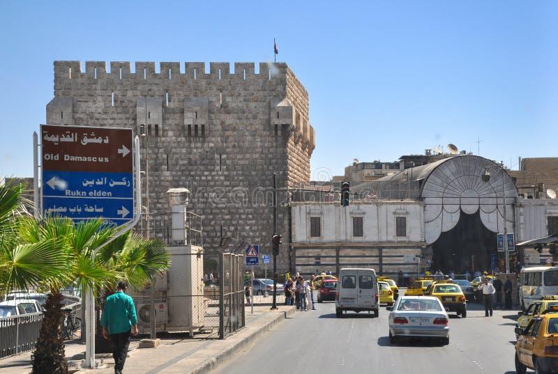 Старый базар в Дамаске перед войной стоковое изображение