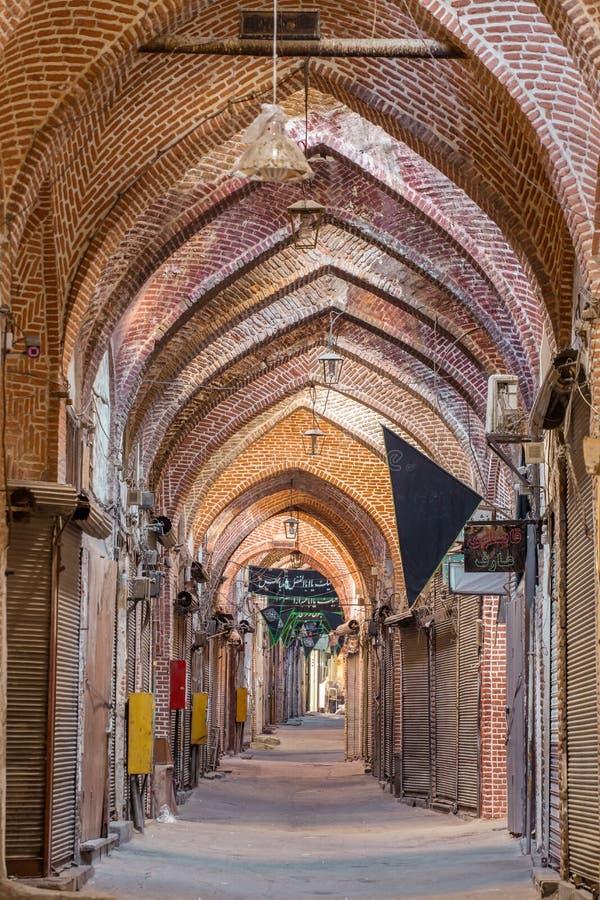 Старый базар Тебриза, Ирана стоковое фото rf