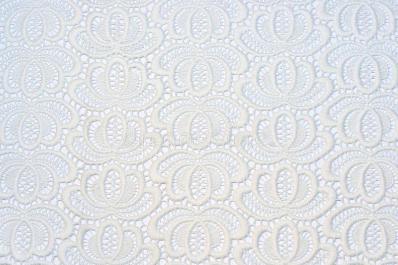 Старый белый шнурок на белом фоне стоковые изображения rf