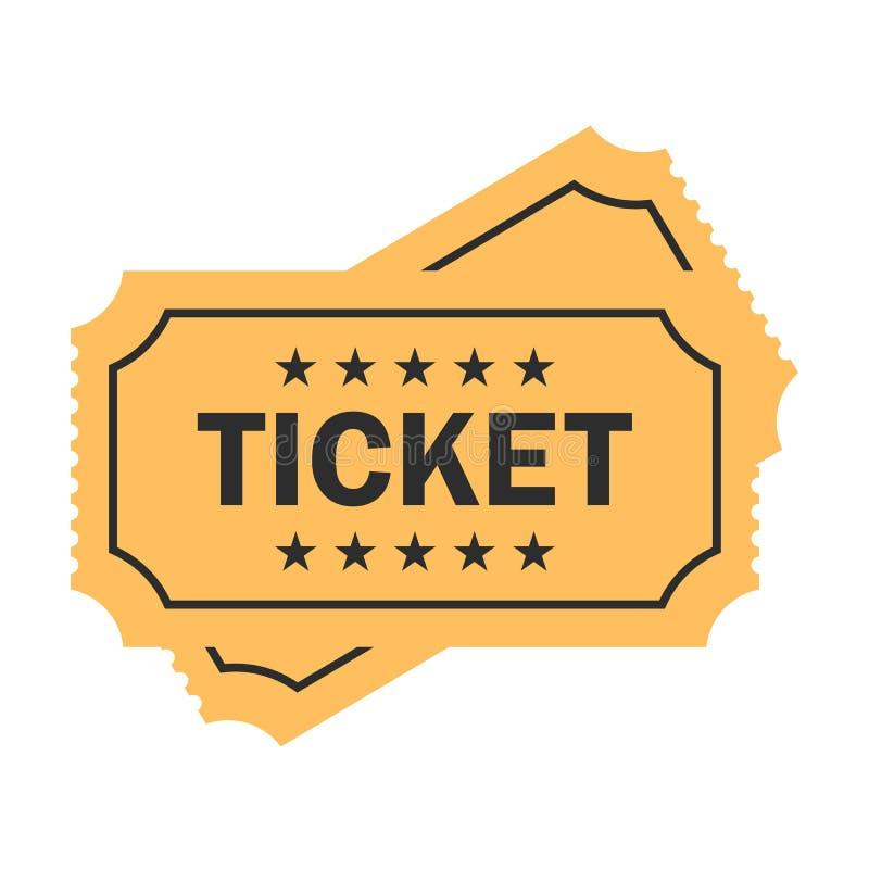 Старый бумажный значок вектора билета бесплатная иллюстрация