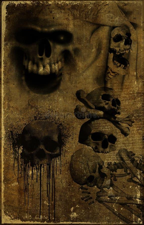 Download старый бумажный череп иллюстрация штока. иллюстрации насчитывающей grunge - 18392494