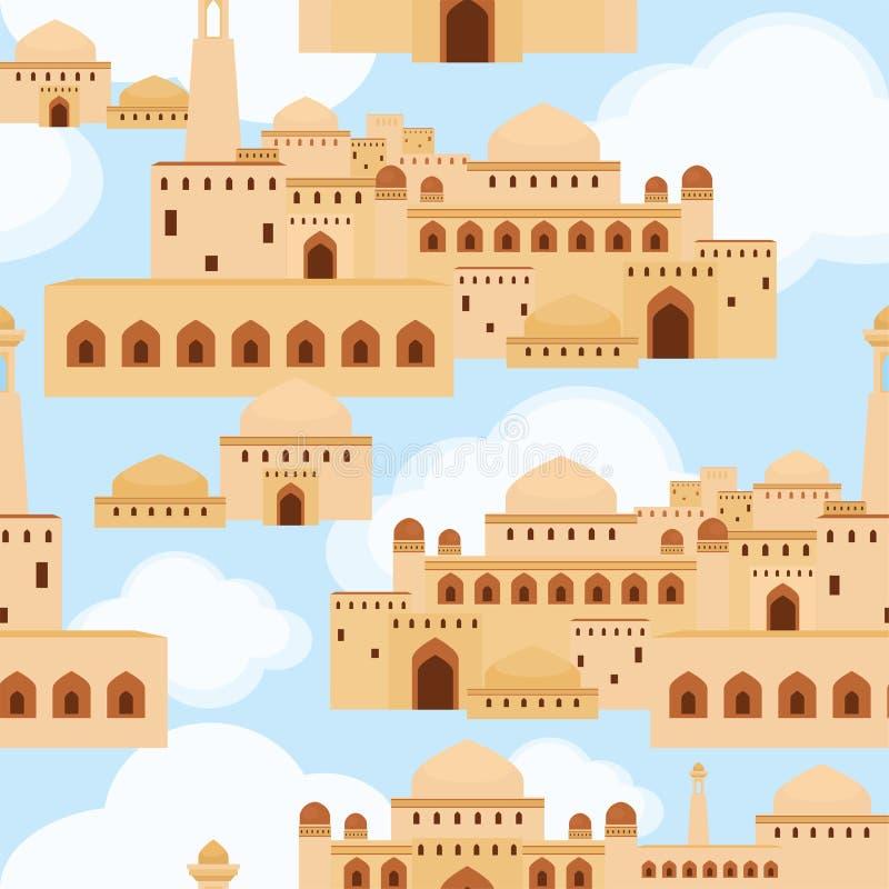 Старый ближневосточный город бесплатная иллюстрация