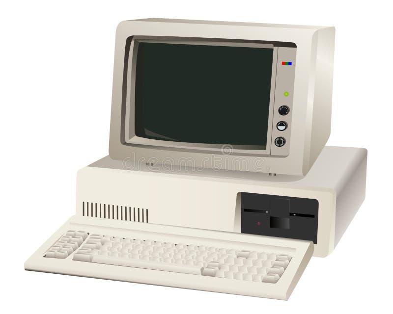 Старый блок компьютера иллюстрация штока