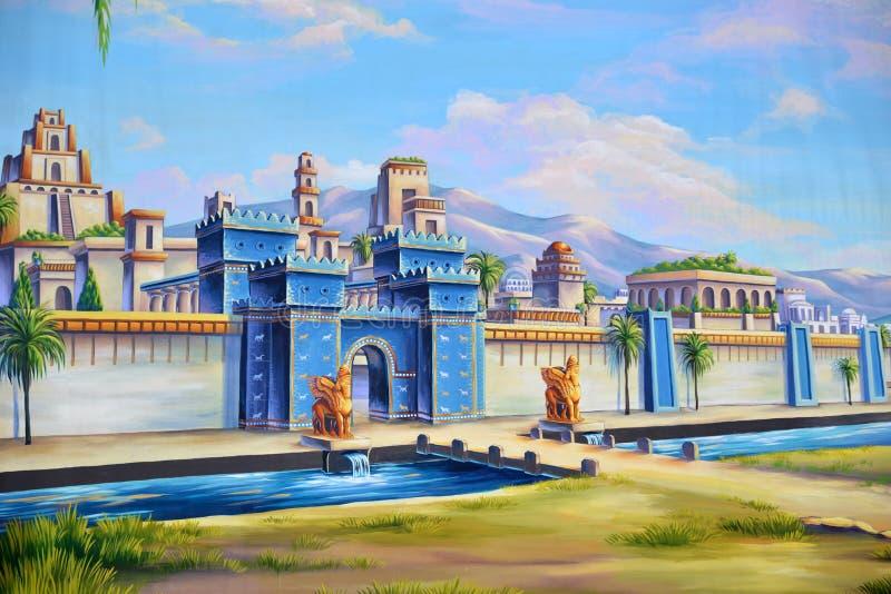 Старый Вавилон иллюстрация вектора