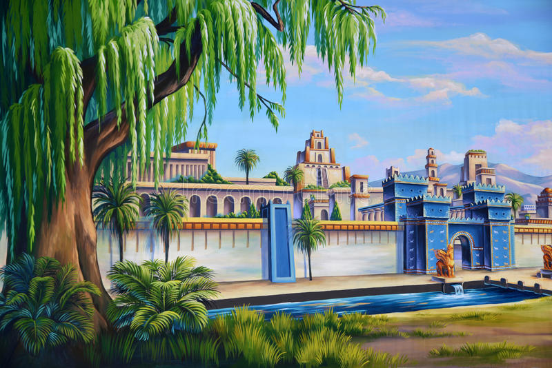 Старый Вавилон иллюстрация штока