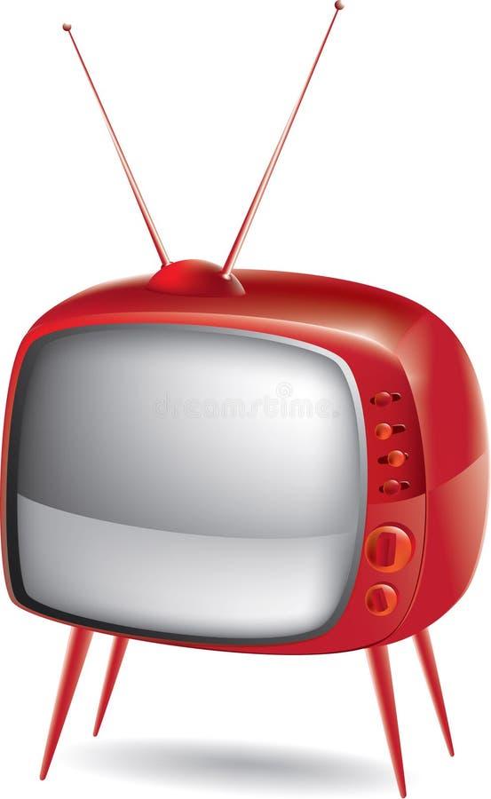 старый вектор tv стоковая фотография