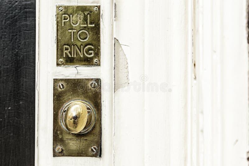 Старый дверной звонок стоковая фотография rf