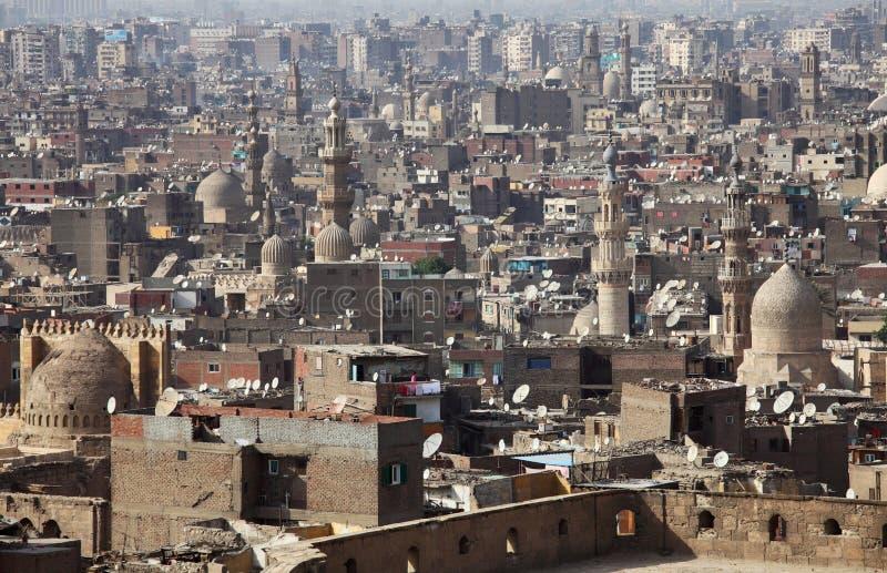 Старый взгляд Каира, Египет стоковое изображение