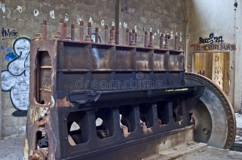 Старый двигатель стоковое фото