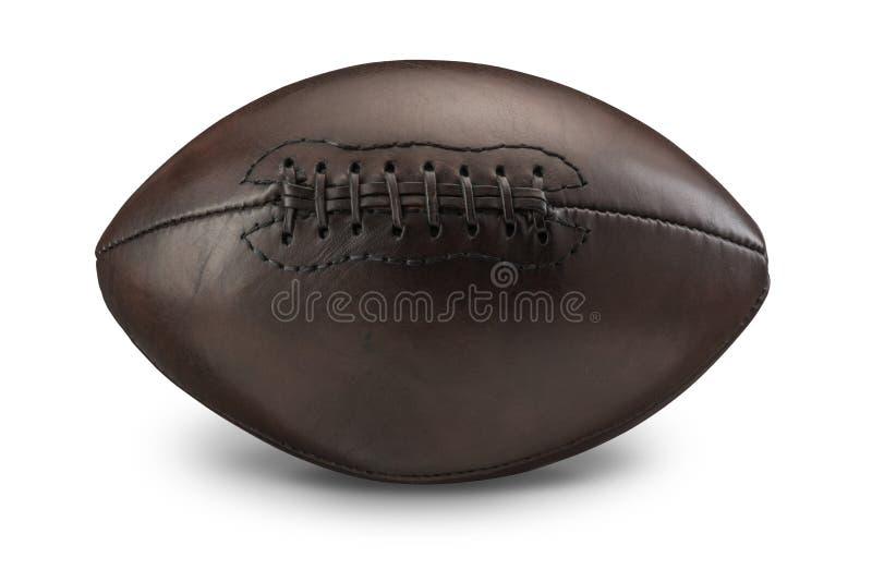 Старый винтажный американский футбол стоковая фотография rf