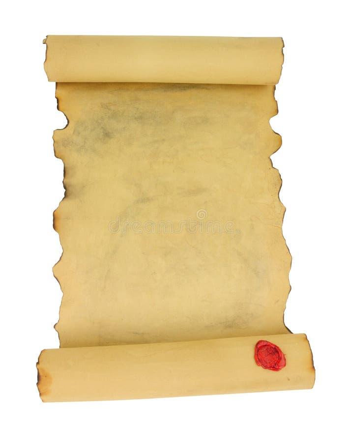 Старый винтажный бумажный перечень стоковые фотографии rf