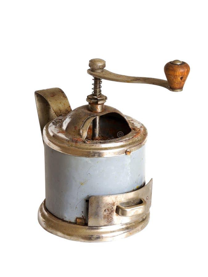 Старый винтажный ручной механизм настройки радиопеленгатора на белой предпосылке стоковое фото rf