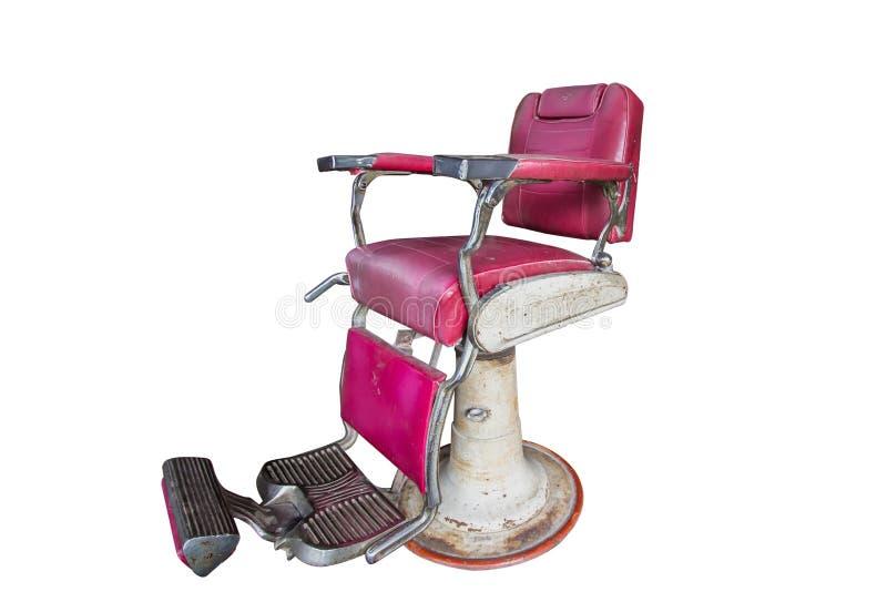Старый винтажный стул парикмахера стоковое фото