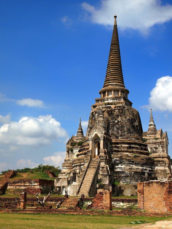 Старый висок в Ayutthaya стоковое фото rf