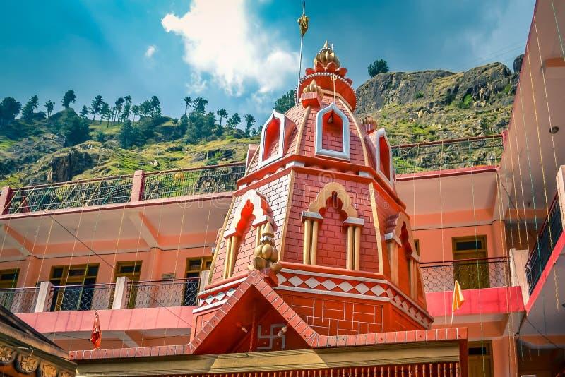 Старый висок Hanuman в Manikaran стоковое фото rf