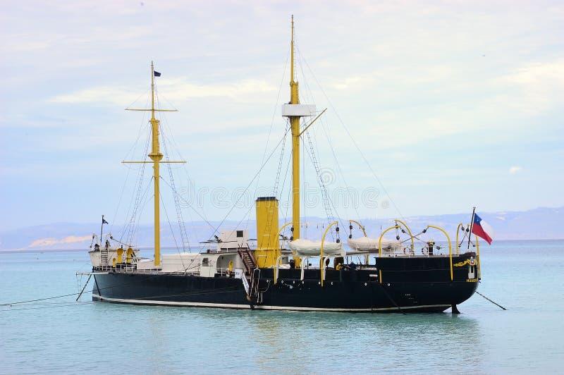 Старый военный корабль стоковое фото rf