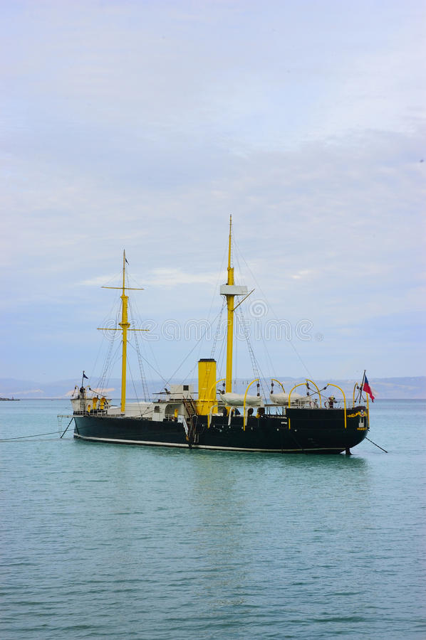 Старый военный корабль стоковое фото