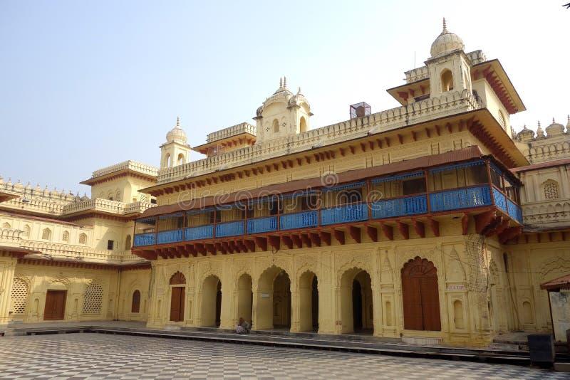 Старый двор виска Ram Sita стоковое фото rf