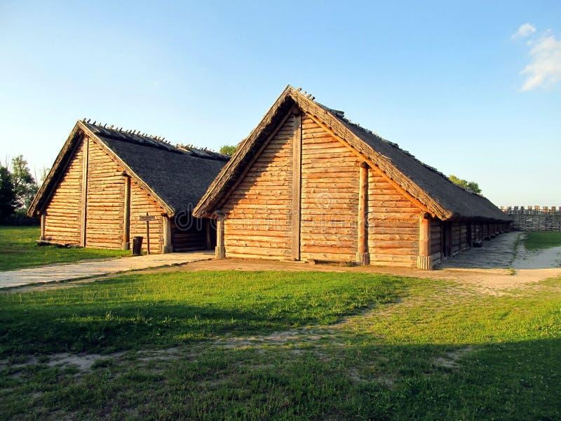 Старый выселок, часть археологического музея стоковые фото