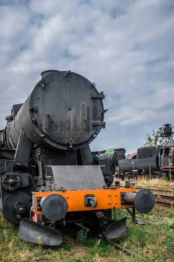 Старый вышедший из употребления локомотив пара угля стоковое фото